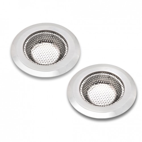 Sink strainer esfun 2 pcs stainless steel sink drain strainer with 2 pcs hair drain clog remover workwithnaturefo