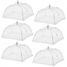 "ESFUN 6 Pack 17"" x 17"" Large Pop-up Mesh Food Cover Umbrella Tent, Keep Out Flies for Home Outdoors Picnic"